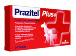 red packaging prazitel dog tablets